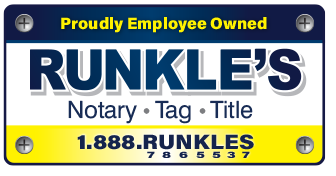 Runkle's Notary • Tag •Title